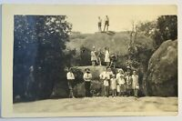 Livermore CA Possibly Boulders People Vintage Card Picture RPPC Postcard