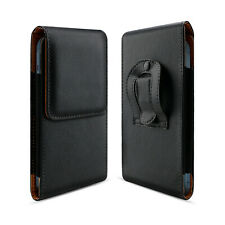 Leather Cell Phone Holster Pouch Wallet Case Belt Clip Horizontal Carrying Cover