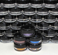 100 Cosmetic Jars Small Plastic Lip Balm Containers Pot 3 Gram Black Caps #5030