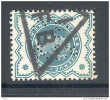 GB, Victoria  ½d  with perfin   C B & Co   (D)
