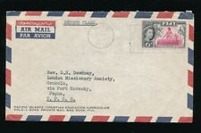 FIJI 1965 to PAPUA OROKOLO 6d FRANKING PRINTED ENV.PRIVATE MAIL BAG 2nd CLASS