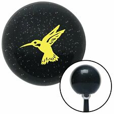 Yellow Hummingbird Black Metal Flake Shift Knob with M16 x 1.5 Insert apu