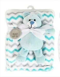 BABY BLANKET WITH SOFT CUDDLY BEAR