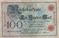 Reichsbanknote Ein Hundert Mark Berlin 1903 Reichsbankdirektorium