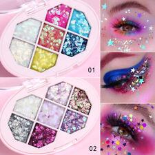 6 Colors Shimmer Glitter Eye Shadow Powder Palette Eyeshadow Makeup Cosmetic