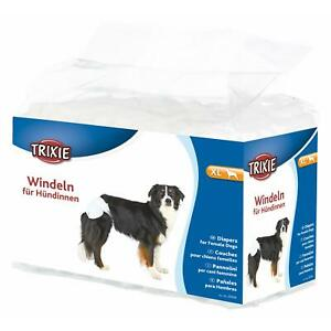 Trixie Female Dog Diapers/Disposable Incontinence Nappies - XL 40-58cm - 12 Pack