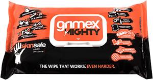 Grimex Mighty Wipes Skinsafe+Alove+Vitamin E Works even Harder Heavy Duty Wipes