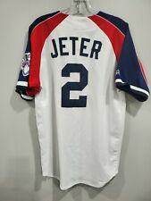 Rare VTG Majestic New York Yankees Derek Jeter 2 Alternate Red Jersey Men M Sewn