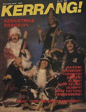 Saxon on Kerrang No:31 Cover 1982  Rainbow  Judy Tzuke Toronto Spider John Waite
