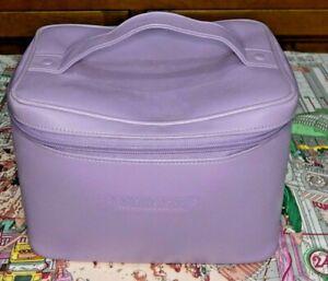 Penhaligons Large Leather Vanity Carry Case Toiletries Case - Purple