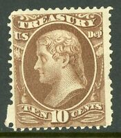 USA 1873 Official 10¢ Treasury Department Scott #O77 Mint F767 ⭐⭐⭐⭐⭐⭐