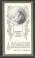 image pieuse Ancienne de San Antonio de Padua santino holy card estampa