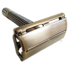 Double Edge Safety Shaving Razor 10 Blades DE Butterfly Head Metal Face Shaver