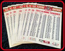 LOT OF 10 2013-14 FLORIDA PANTHERS COCA COLA ZERO HOCKEY POCKET SCHEDULES