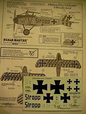 """SCALEMASTER 1/48 decal for Albatros D. Va """"STROOP"""" Markings Special Run OOP"""