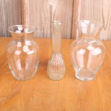 3 Clear Glass Vases For Wedding Centerpieces