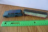 TootsieToy Die Cast Box Car Rubber wheels Vintage and Rambler Car Lot of 2 Toys