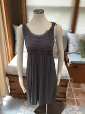 Max Studio Gray Empire Fit Stretch Dress Medium Excellent