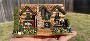 1/144th scale dollhouse miniatures completed and furnished with landscape