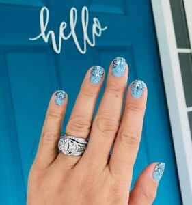 Color Street DANUBE COOL (Pastel Blue Silver Glitter Ice Snow Winter Spring)