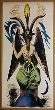 "Baphomet GIANT DOOR 50"" x 24"" Color Satanic Worship Poster Evil Art Halloween"