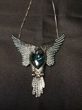 Authentic Crystals From Swarovski® Flying Eagle Pendant Necklace Green Stone