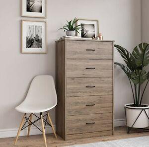 Premium Classic Rustic Oak Finish - 5 Drawer Dresser BRAND NEW