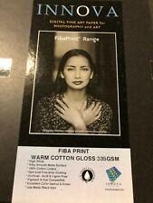 "Innova Warm Cotton Gloss Aka Exhibition Cotton Gloss 8.5"" x 11"" 50 Sheets 37610"