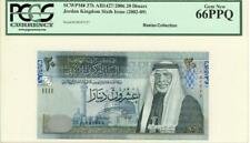 Jordan 20 Dinars Currency Banknote 2006 PCGS 66 GEM UNC PPQ