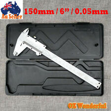 "Vernier Caliper Gauge Steel Micrometer 150mm 6"" Inch 0.05mm with case"