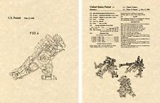 Transformers TRYPTICON G1 US Patent Art Print READY TO FRAME Shinohara 1986