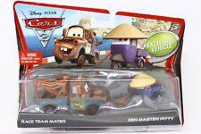 Disney Pixar Cars 2 pack Race Team Mater & Zen Master Pitty Exclusive Vehicle