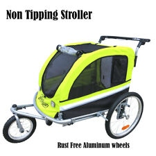 Booyah Strollers Large Pet Dog Stroller and Bike Bicycle Trailer with Suspension
