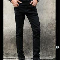 Mens Skinny Jeans Slim Stretch Denim Distress Frayed Jeans Pant Straight Pants