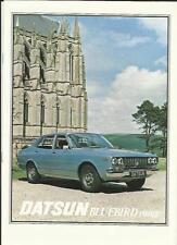 DATSUN BLUEBIRD RANGE SALES BROCHURE 1977