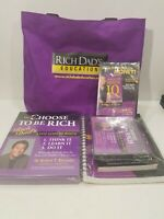 You Can Choose To Be Rich Rich Dads 3-Step Guide Wealth, Workbooks DVD 12 CDs ++