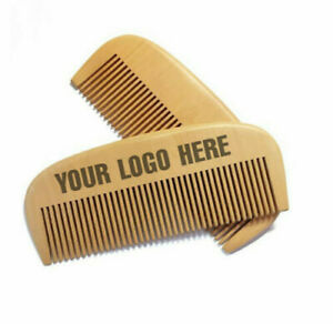 Customize Logo-50-100pcs Peach Wood Combs Beard Care Combs Wooden Combs Brushes