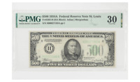 1934A $500 Federal Reserve Note St Louis PMG VF30 FR#2202-H (HA Block)