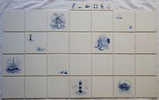 Fliesen Delfter Art, Strand marine 15x15 o. 10x10 möglich *Einzelanfertigung*