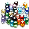 Wholesale Crystal Cube Loose Glass Beads DIY Beads Fit Jewelry Making 4mm 6mm