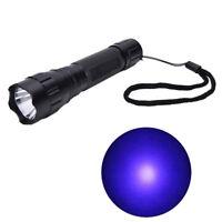 UV WF-501B LED 365NM Ultra Violet Blacklight Flashlight Torch 18650 Light La Ehc