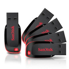 SANDISK CRUZER BLADE CZ50 FLASH PEN THUMB USB DRIVE 128GB 64GB 32GB 16GB 8GB LOT