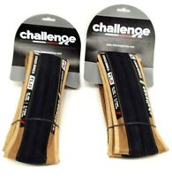 2-PACK Challenge Strada Bianca TLR 700x36 Tubeless Ready Bicycle Tire Black/Tan