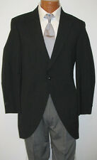 41 L Black Wool Tuxedo Cutaway Morning Coat Caroller Costume Victorian Butler