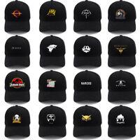 New Unisex Cotton Snapback Baseball Cap Adjustable Hat Black