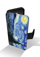 Vincent Van Gogh Starry Night Dutch Painting Moon Wallet Leather Phone Case