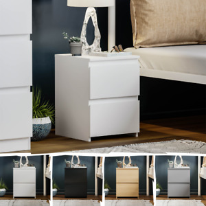 Modern 2 Drawer Chest Bedside Table Cabinet Nightstand Bedroom Furniture Small