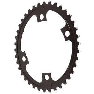 Absolute Black Premium oval road chainring, 4x110BCD 38T - black