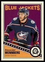 2019-20 UD OPC O-Pee-Chee Retro Base #254 Alexander Wennberg - Blue Jackets