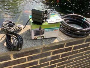 POND AND AQUARIUM WATER PUMP 1400 PP BNWB PLUS 14 FT HOSE USED ON ANOTHER PUMP